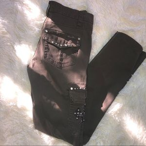 Miss Me Brown jeweled Cargo jeans size 27